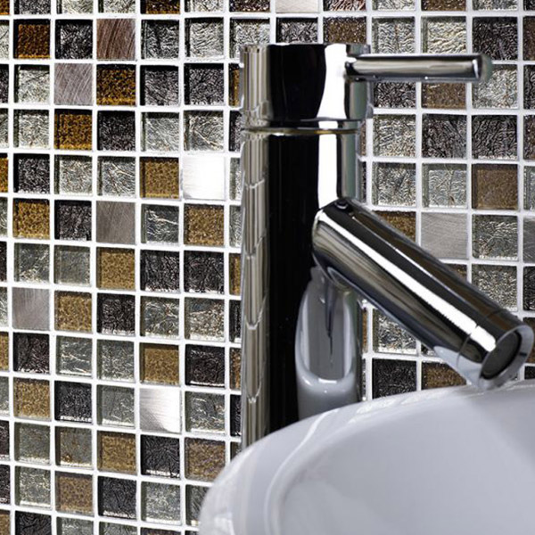Atlas Gold Metal Mix Mosaic Tile Belfast
