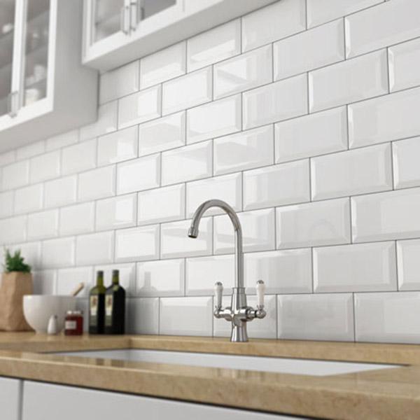 Beveled White 10x20