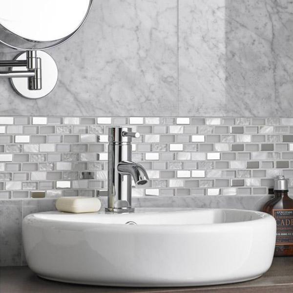 Bianco Pearl Brick Mosaic Tile Belfast