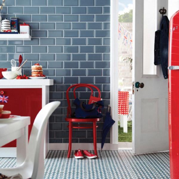 Blue Kitchen Tiles Belfast