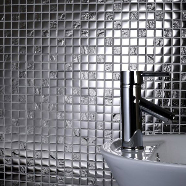 Chrome Pattern Glass Mosaic Tile Belfast