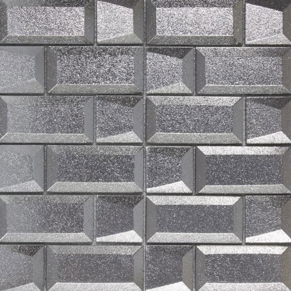 Dimesions Silver 3D Glass Mixed Mosaic Tile Belfast