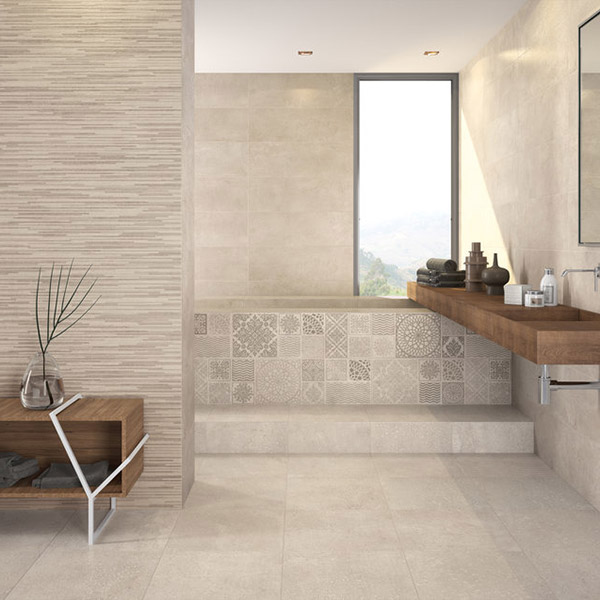 Kiev sand bathroom tiles belfast the tile source belfast - Bathroom tile ideas pictures ...