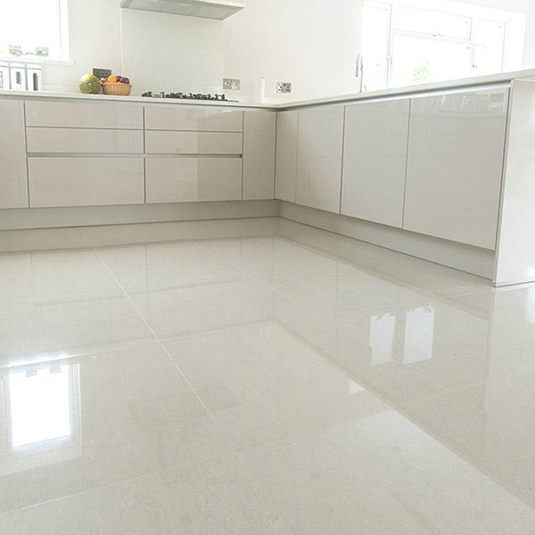 Super White 60x60 Kitchen Tiles Belfast